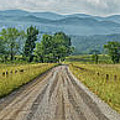 Cades Cove Panorama 2 E214 by Wendell Franks
