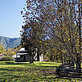 Cades Cove Tennessee Fall Scene by Kathy Clark