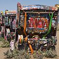 Cadillac Ranch Along Route 66 by Scott Lenhart