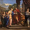 Caesar Giving Cleopatra The Throne Of Egypt, C.1637 Oil On Canvas by Pietro da Cortona