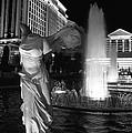 Caesars Fountain Bw by Jenny Hudson