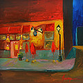 Cafe At Night by Patricia Awapara