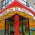 Cafe De La Presse In San Francisco-california  by Ruth Hager