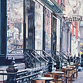Cafe Della Pace East 7th Street New York City by Anthony Butera