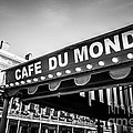 Cafe Du Monde Black And White Picture by Paul Velgos