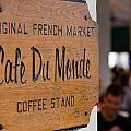 Cafe Du Monde Sign by Gregory Cox