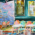 Cafe In Montmartre by Hisayo Ohta