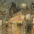 Cafe La Marin. Paris by Konstantin Korovin