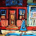 Cafe Laurier Montreal by Carole Spandau