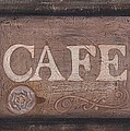 Cafe Sign by Barbara St Jean