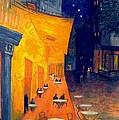 Cafe' Terrace At Night  by Rick Todaro