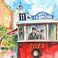 Cafe Tramvaj In Prague by Miki De Goodaboom