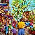 Cafes In Springtime by Carole Spandau