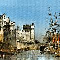 Cahir Castle  Tipperary by Val Byrne