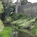 Cahir Castle Wall And River Suir by Christiane Schulze Art And Photography