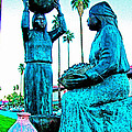 Cahuilla Women Sculpture In Palm Springs-california  by Ruth Hager