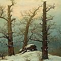 Cairn In Snow by Caspar David Friedrich