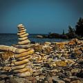 Cairn On Lake Michigan by Paul Freidlund