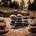 Cairn Whitefish Point Michigan by Evie Carrier