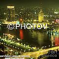 Cairo And The Nile River At Night - Egypt by Hisham Ibrahim