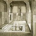 Cairo Mandarah Reception Room, Ground by Emile Prisse d'Avennes