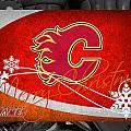 Calgary Flames Christmas by Joe Hamilton