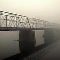 Calhoun Street Bridge In Fog by Steven Richman