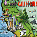 California Cartoon Map by Kevin Middleton