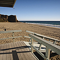 California Lifeguard Shack At Zuma Beach by Adam Romanowicz