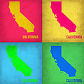 California Pop Art Map 1 by Naxart Studio