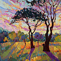 California Sky Quadtych - Lower Left Panel by Erin Hanson
