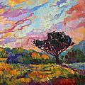 California Sky Quadtych - Lower Right Panel by Erin Hanson