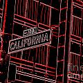 California Street Sign Red by Tracy Nelson