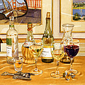 California Wine And Watercolors by Mary Helmreich