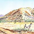 Californian Landscape Saint John Ranch Bald Mountain View Shasta County by Irina Sztukowski