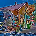 Calistoga Depot by Richard J Cassato
