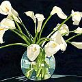 Calla Lilies In Vase by Pauline Walsh Jacobson