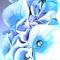 Calla Lilly So Soft Lilac And Blue by Saundra Myles
