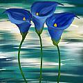 Calla Trio- Calla Lily Paintings by Lourry Legarde