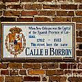 Calle Borbon by Susie Hoffpauir