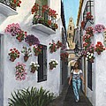Calleje De Las Flores Cordoba Spain by Richard Harpum