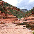 Calm Day At Slide Rock by Carol Groenen