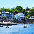 Calm Summer Day At Rockport Harbor by Bob Sandler