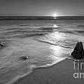 Calm Winter Waves Bw by Michael Ver Sprill