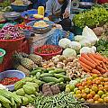 Cambodian Vegetable Market by Craig Lovell