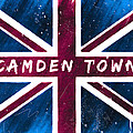 Camden Town Distressed Union Jack Flag by Mark E Tisdale
