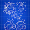 Camera Shutter Patent 1910 - Blue by Stephen Younts