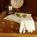 Camera Sunglasses On Luggage by Jill Battaglia