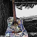 Camo Guitar by Kristie  Bonnewell