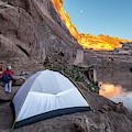 Camping Along The Labyrinth Canyon by Kennan Harvey